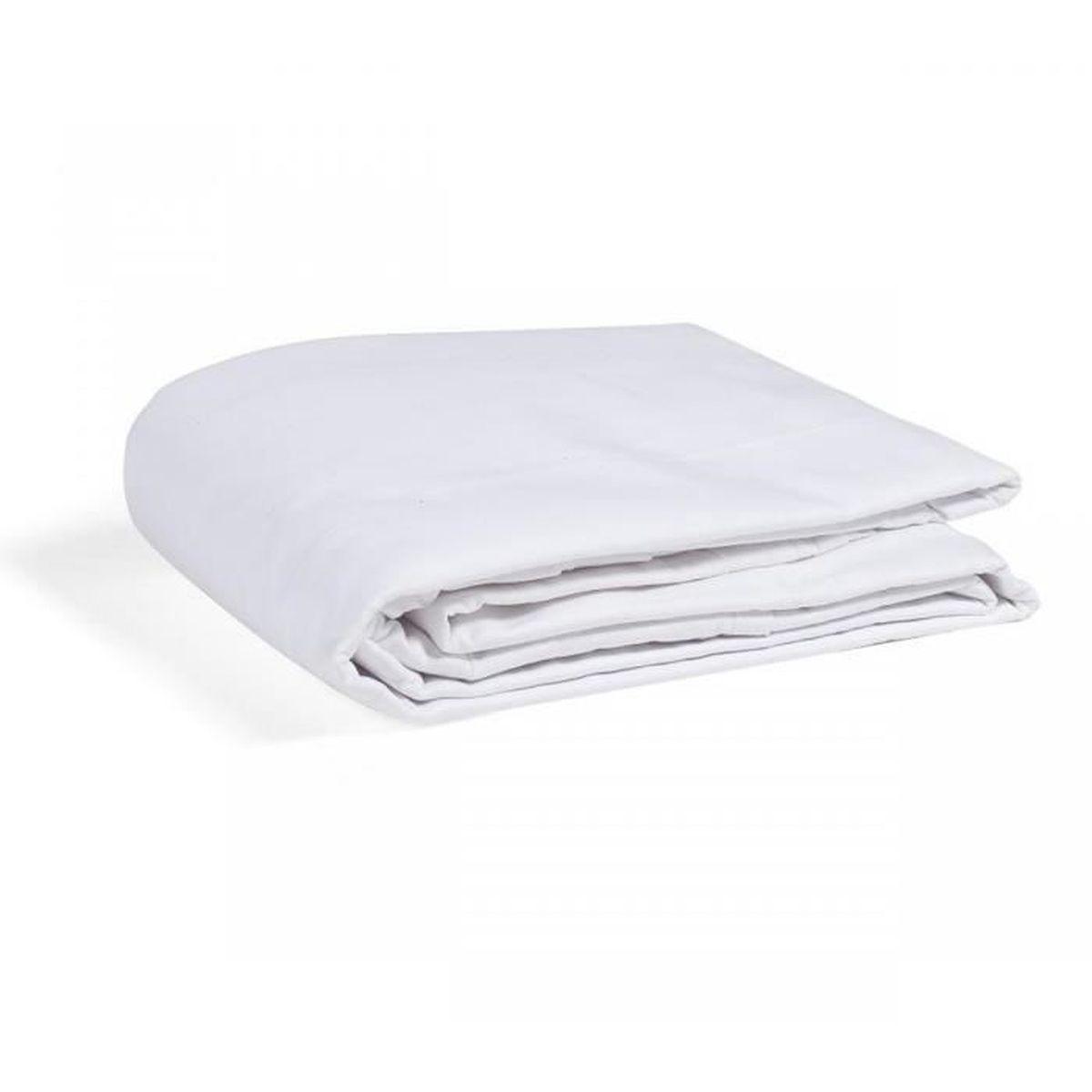 HOUSSE DE COUETTE SEULE Housse de Couette Enfant 100% Coton Blanc 80x120