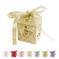 Boîte cadeau Amour Party Coeur Wedding Favor Ribbon Candy Box G