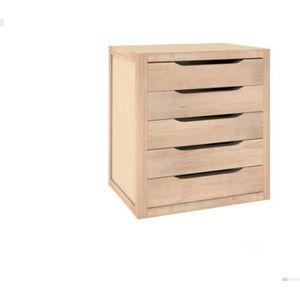 MEUBLE CLASSEMENT Bloc 5 tiroirs bois 45.8x39x30cm