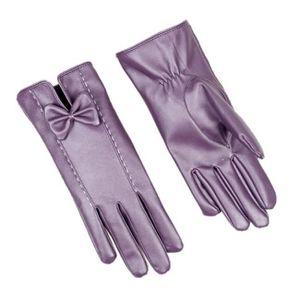 Rodier gant femme 100/% cuir véritable doublure chaude marron