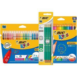 KIT DE DESSIN BIC Kit Rentrée des Classes - Pack de Coloriage de