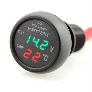 PRISE ALLUME-CIGARE 12-24V Chargeur Allume-Cigare Port USB-Voltmètre-T