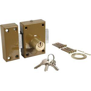 SERRURE - BARILLET Verrou de sécurité double entrée COGEX 3 clés