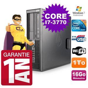 UNITÉ CENTRALE  HP WorkStation Z220 SFF Core i7-3770 3.4Ghz 16Go D