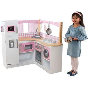 DINETTE - CUISINE KidKraft 53185 Cuisine d'angle enfant en bois Gran