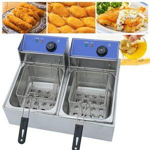 FRITEUSE ELECTRIQUE 2X10L 220V Friteuse électrique Cuisinière à induct