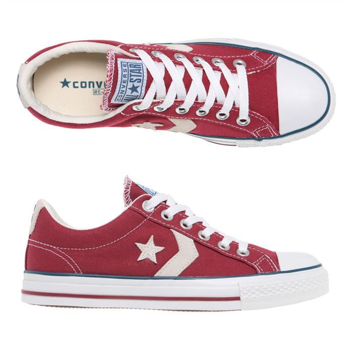 converses homme rouge
