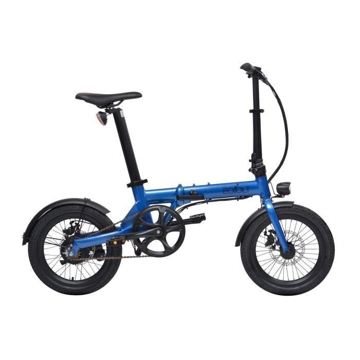 Vélo à assistance électrique City pliant 16- - Bleu