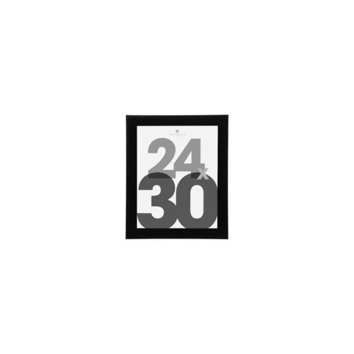Cadre photo - 29 x 35 cm - Bois - Noir 29 cm