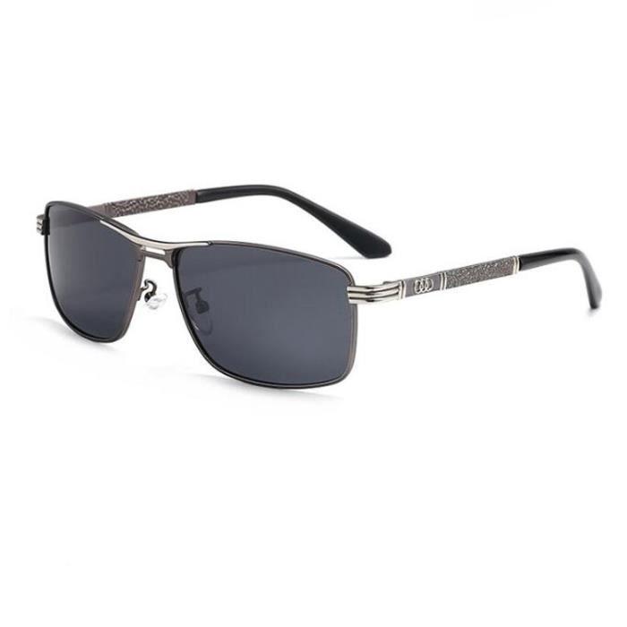 Lunettes de soleil polarisées pour hommes- Protection UV Classique Conduire des lunettes miroir conducteur