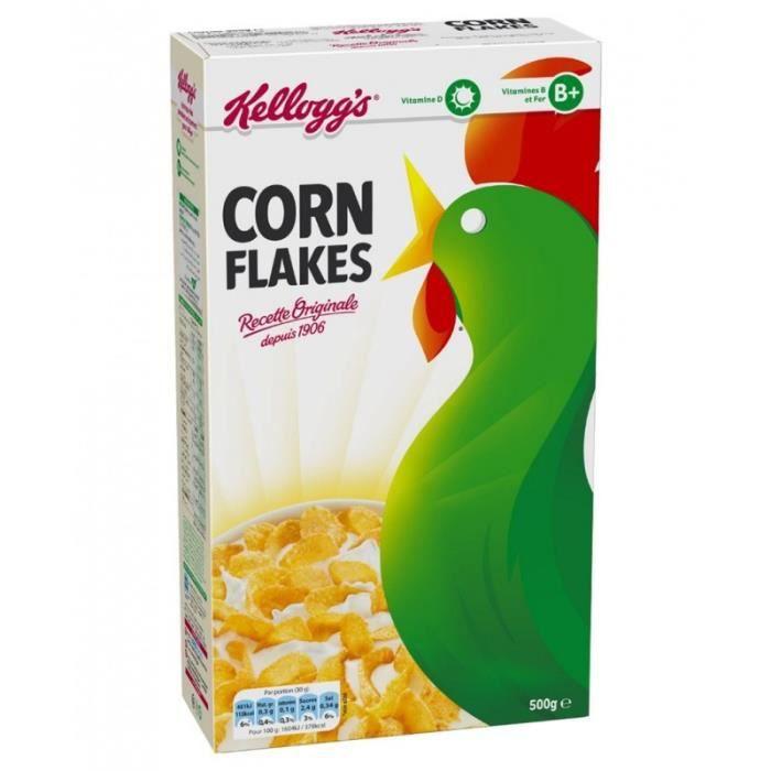 Kellogg's Corn Flakes Recette Originale 500g (lot de 3)