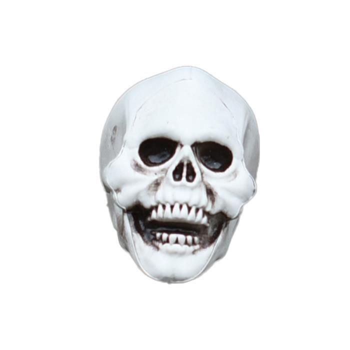 1PC Halloween tête de crâne résine artisanat décoration fournitures pour la maison de fête OBJET DECORATIF
