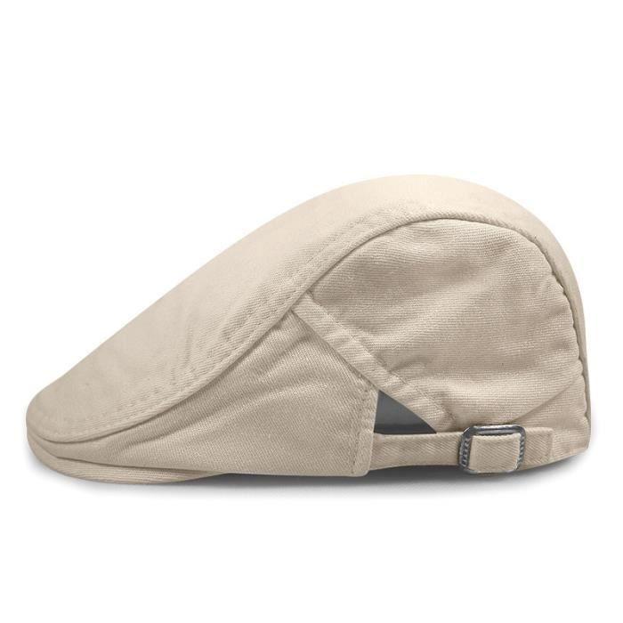 Light Khaki 55-59cm -Chapeau de livreur, vierge à visière plate, béret de grande taille pour homme, 55 59CM, 60 63CM, décontracté
