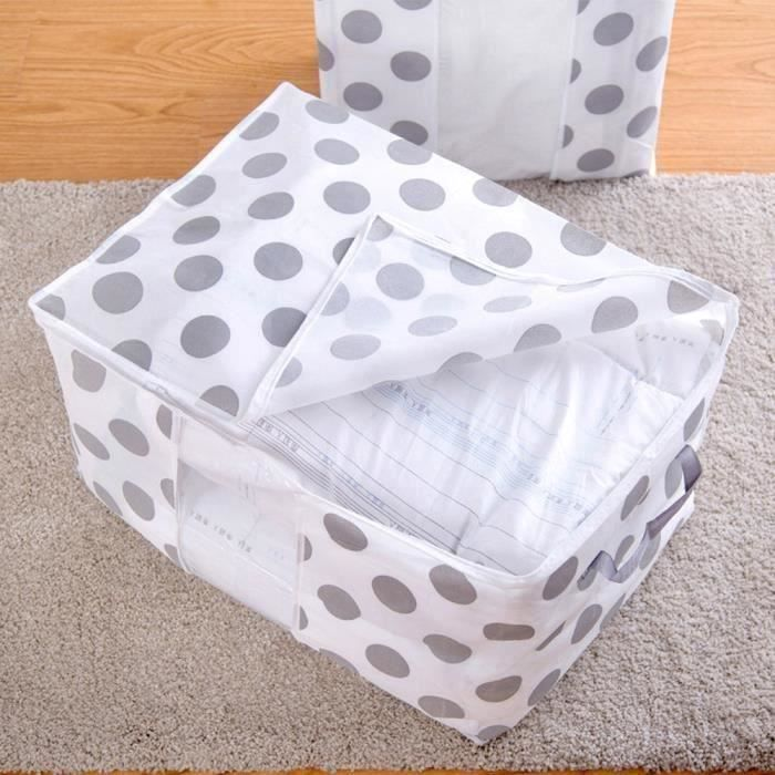 Sac de rangement pliable vêtements couverture couette placard housse chandail b His34934
