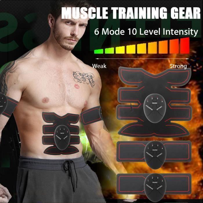 Appareil de Musculation Électrique Muscle Formation Vitesse Body Shape Fitness 6 Mode 10 Intensité L29072