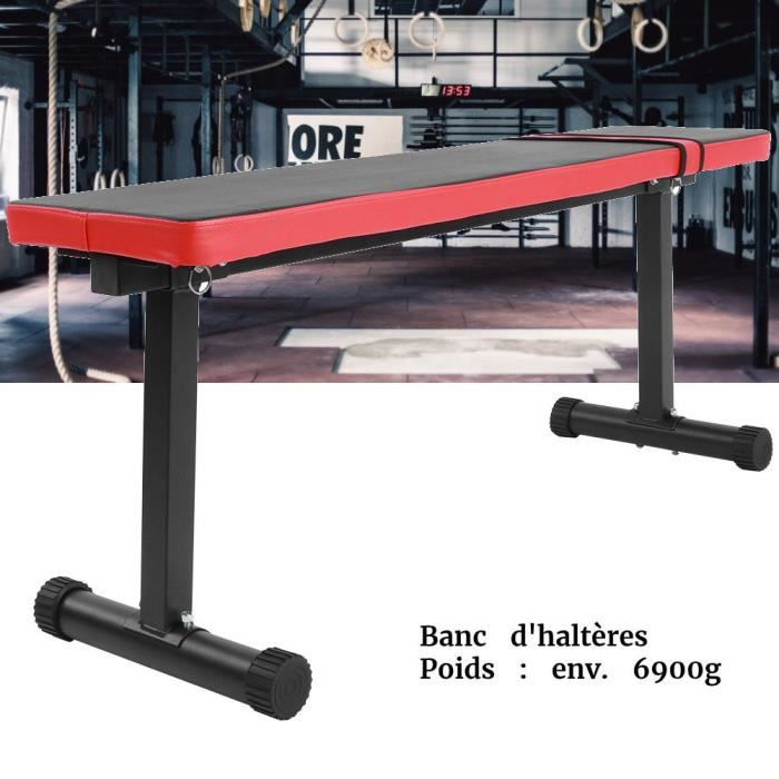 KAI-1Banc de Musculation - Banc de Poids Réglable - Exercice Gymnastique à Domicile Capacité de Poids de 300 KG