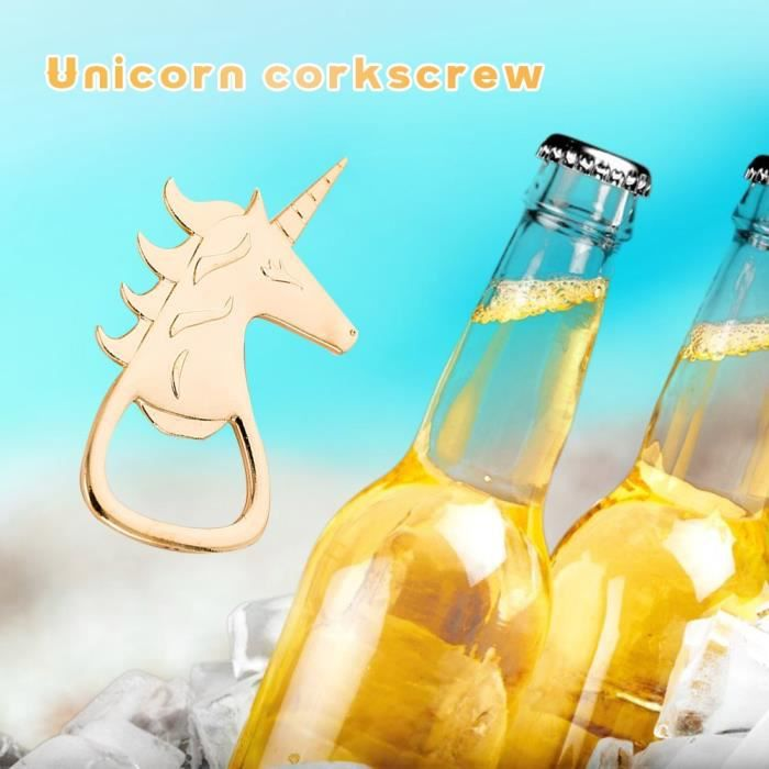 Tire-Bouchon,Créatif or cheval décapsuleur barre de cuisine bouchon de bière ouverture Gadget cadeau alliage tentures anneau porte