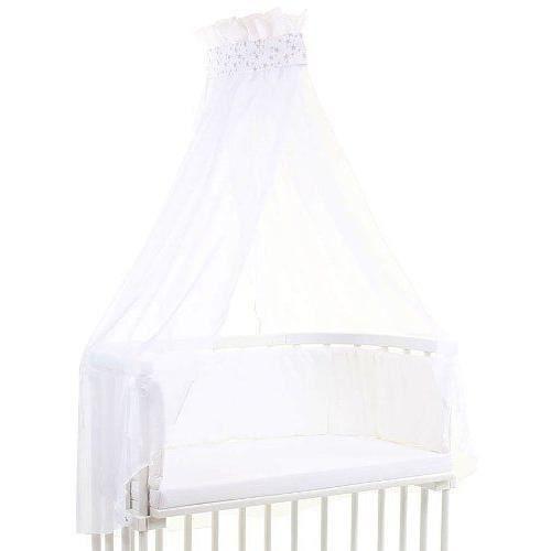 Babybay Ciel de Lit pour Lit Berceau cododo , Etoile/Gris perle - 100315