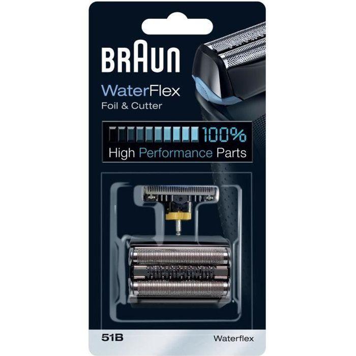 Pièce De Rechange compatible avec les rasoirs WaterFlex - BRAUN 51B Noire
