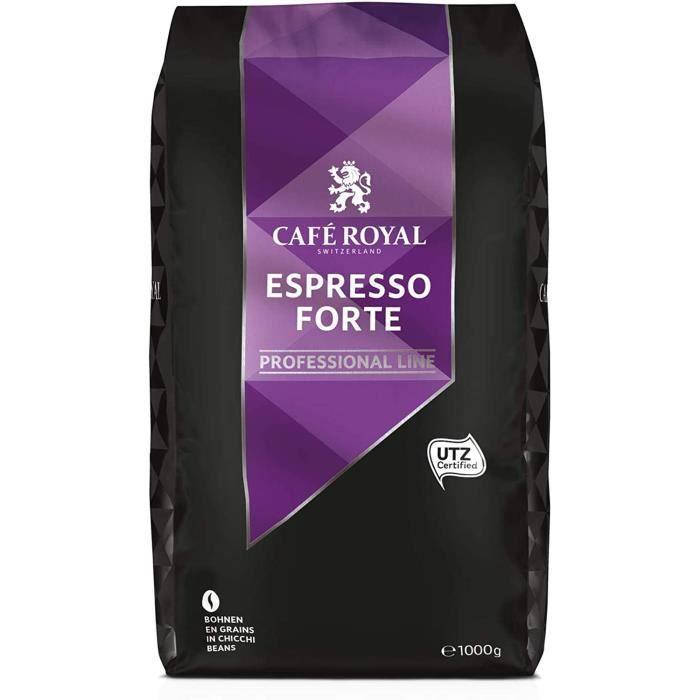CAFE ROYAL PRO - 1KG CAFE GRAINS UTZ - ESPRESSO FORTE - 1kg de Café en Grains - Certifié UTZ (éco-responsable)
