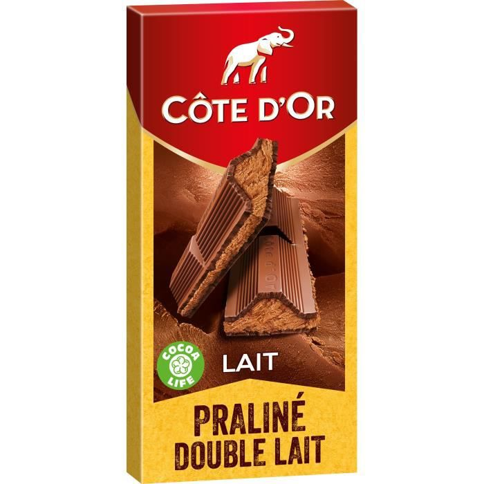COTE D'OR Fourré Epais Praliné Fondant Lait - 200 g