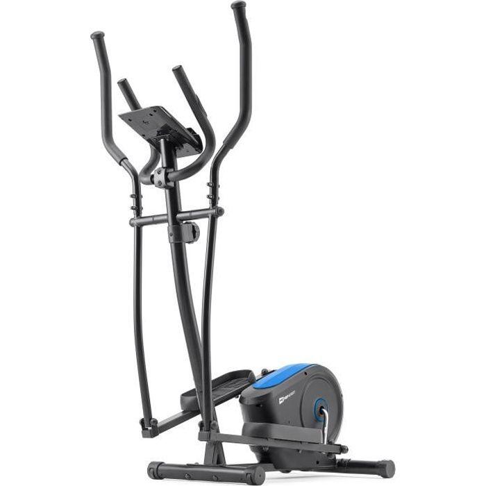 HS HOP-SPORT Vélo elliptique HS-2050C Cosmo -Nordic Walking – résistance magnétique 9kg - Poids Max 100 kg -Ordinateur (Bleu)