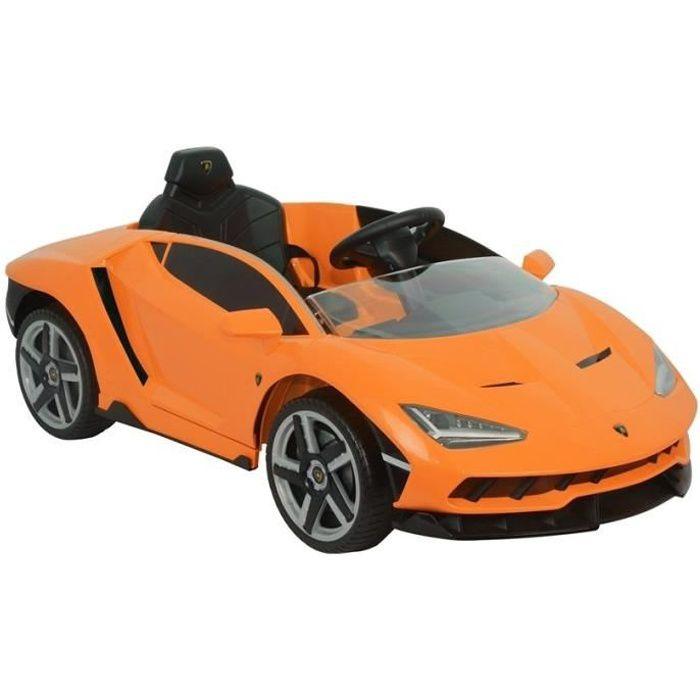 Voiture électrique pour enfants Lamborghini Centenario Orange, Télécommande 2,4 GHz , Motor: 2 x 45W, Siège en similicuir (LE6629)