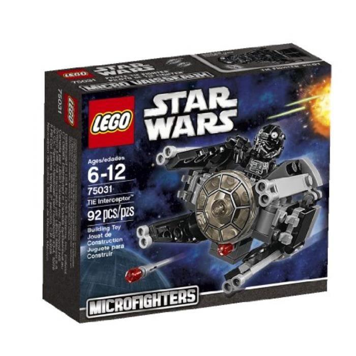 Jeu D'Assemblage LEGO WAPGQ , Star Wars Microfighters Série 1 TIE Interceptor (75031