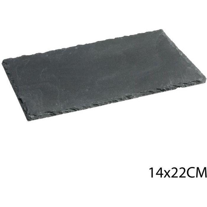 Assiette en ardoise - 14 x 22 cm.
