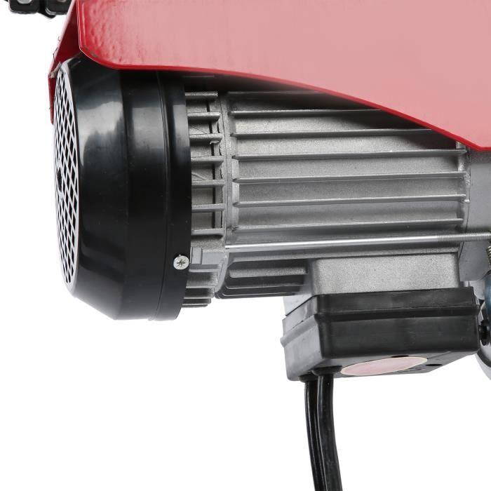 Équipement de levage de treuil à câble électrique avec 12 mètres de câble en acier 1450W 400-800KG prise UE 220V
