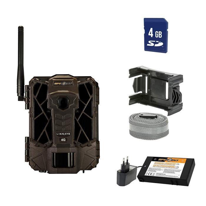 Spypoint Link-Evo-EU Caméra de vidéosurveillance avec Batterie au Lithium et Carte SD pour l'extérieur Marron Camouflage 1643