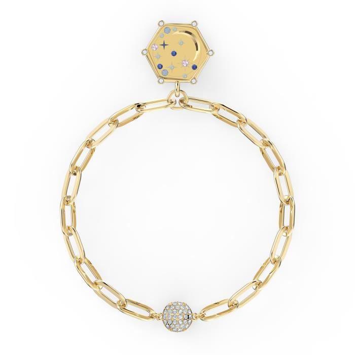 Bracelet femme - SWAROVSKI - Bracelet Swarovski The Elements Moon, bleu - Couleur de la matière:Jaune