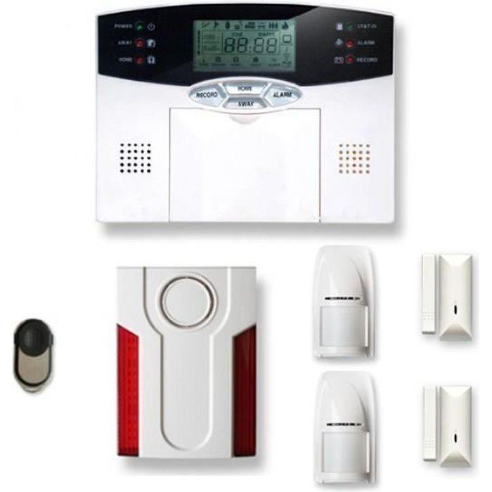 Alarme maison sans fil 1 à 2 pièces MN mouvement + intrusion + sirène extérieure - Compatible Box Internet