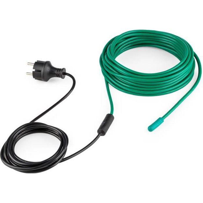 Waldbeck Greenwire Câble chauffant de 12m - Antigel - Chauffage pour plantes 60W IP44