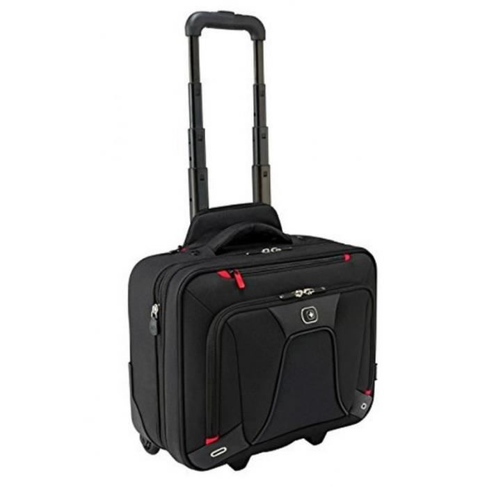 Wenger transfert extensible 16- ordinateur portable valise trolley - parfait pour les voyages d'affaires court en noir