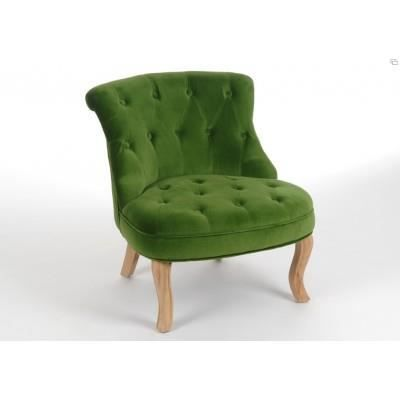 fauteuil crapaud velours vert amadeus achat vente. Black Bedroom Furniture Sets. Home Design Ideas
