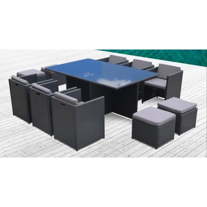 flores 10 personnes salon jardin encastrable achat. Black Bedroom Furniture Sets. Home Design Ideas