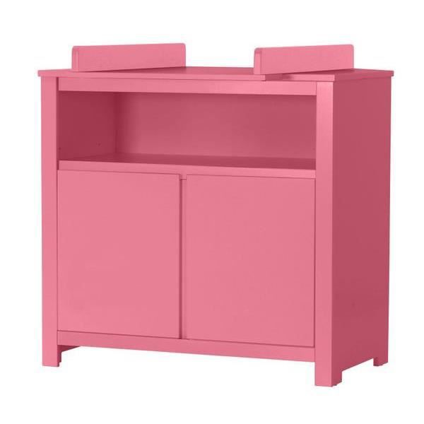 Commode 2 portes table langer rose achat vente for Table a langer rose
