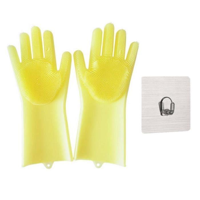 Gant Vaisselle en Silicone Gants Cuisine R/éutilisables Gants Nettoyage R/ésistant /à la Chaleur iGadgitz Home U6955 Nettoyage Maison Main droite Gants Vaisselle Turquoise