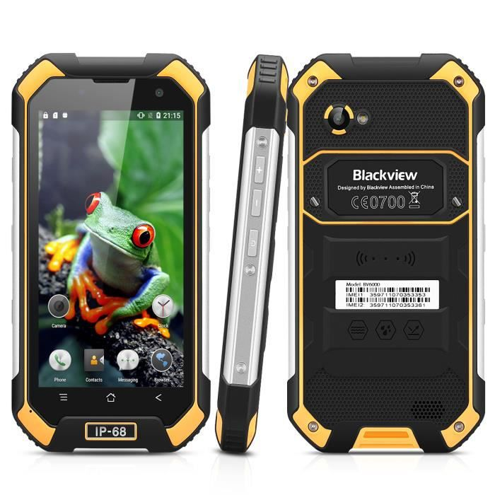 blackview bv6000s 4g smartphone ip68 etanche 4 7 pouces android 6 0 mt6735 quad core 1 3 ghz 2gb. Black Bedroom Furniture Sets. Home Design Ideas