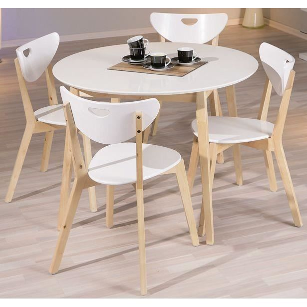 emejing table a manger blanche ronde contemporary awesome interior home satellite. Black Bedroom Furniture Sets. Home Design Ideas