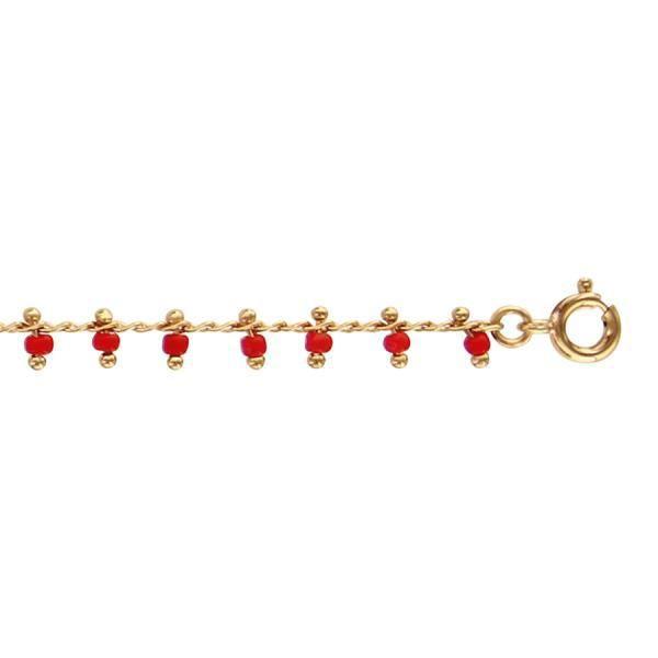 bracelet cheville plaque or