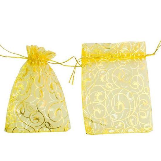 Giveet 100 pi/èces Organza sachets cadeau Bijoux cordon de serrage poches Sacs Candy Pouch Pochette pour f/ête Sac cadeau de mariage
