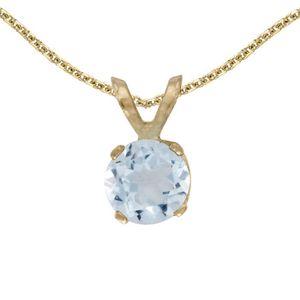 0.75 Ct Rond Bleu ciel aigue-marine 925 Sterling Silver Ring