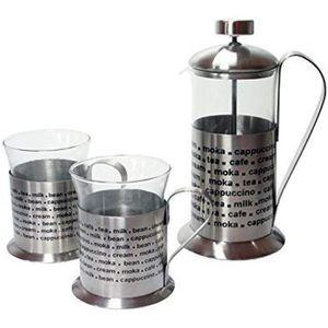 CAFETIÈRE - THÉIÈRE DRULINE ensemble de 3 machine à café de thé cafeti