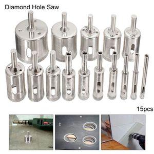 8pcs 6mm-20mm Diamond Tool Drill Bit Trou Scie Set Pour Verre Céramique Marbre Carrelage