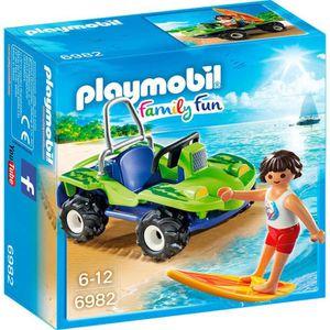 UNIVERS MINIATURE PLAYMOBIL 6982 - Family Fun - Surfeur et Buggy