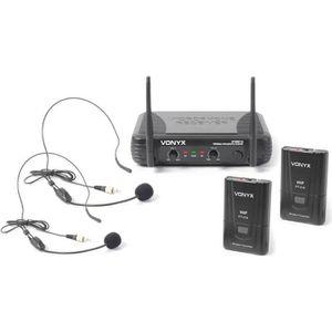MICROPHONE - ACCESSOIRE VONYX STWM712H Système sans fil VHF 2 canaux avec
