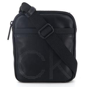 SACOCHE Calvin Klein - Petite sacoche noire plate homme en