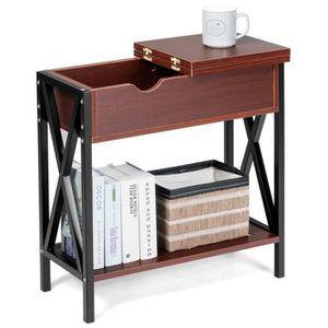 TABLE D'APPOINT COSTWAY Table d'Appoint/Bout de Canapé en Bois Str